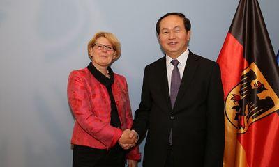 Bộ trưởng Trần Đại Quang thăm, làm việc với Bộ Nội vụ CHLB Đức