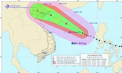 Tin bão mới nhất: Bão Thần Sấm vào Vịnh Bắc Bộ mạnh cấp 12, 13