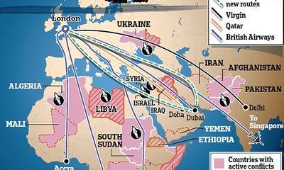 Virgin Atlantic ngừng mọi chuyến bay qua Iraq