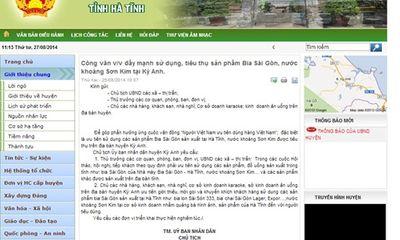 Công văn yêu cầu sử dụng bia Sài Gòn: Lãnh đạo huyện lên tiếng