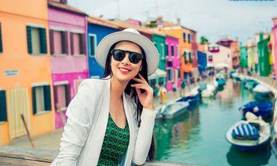 Ngọc Hân lãng mạn tại Venice