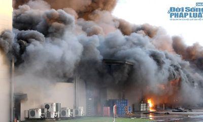 Clip: Toàn cảnh vụ cháy Khu công nghiệp VSIP Bình Dương