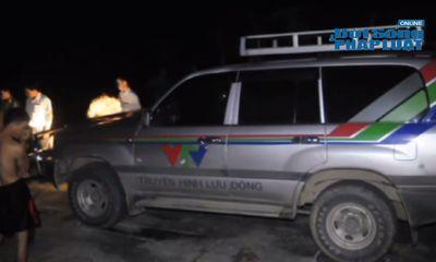 Clip: Xe truyền hình lưu động của VTV gây tai nạn chết người