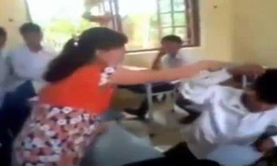 Clip: Cô giáo mang bầu bạt tai học sinh giữa lớp