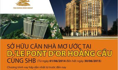 Sở hữu căn nhà mơ ước tại chung cư D.' le Pont D'or với SHB
