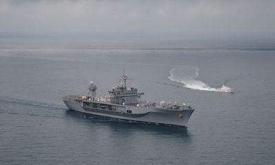 Tàu chiến Mỹ cập cảng của Gruzia giữa lúc căng thẳng với Nga