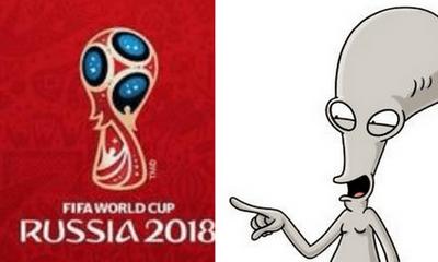 Biểu trưng World Cup 2018 được so sánh với người ngoài hành tinh