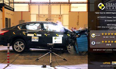"""Tư vấn - Nissan Teana """"ăn"""" điểm 5 sao về an toàn từ NCAP Đông Nam Á"""