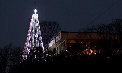 Noel 2014: Hàn Quốc dựng lại cây thông Noel khổng lồ giáp Triều Tiên