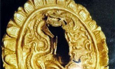 Tìm thấy vàng miếng hình rồng thời Lý ở Hoàng thành