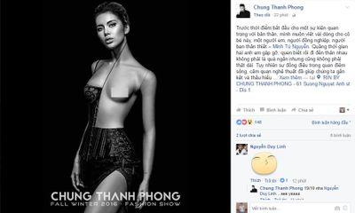 Chung Thanh Phong bất ngờ viết tâm thư cho
