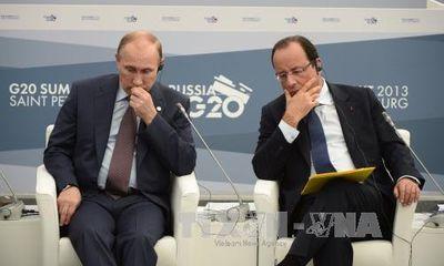 Ông Putin chính thức hủy chuyến thăm Pháp