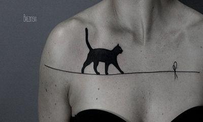 Bộ sưu tập hình xăm mèo đẹp – độc – lạ