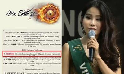 Lý do thực sự khiến Nam Em trượt top 4 Hoa hậu trái đất 2016