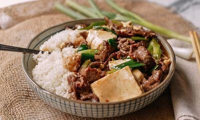 Đậu phụ non sốt thịt bò - món ăn 'chết' cơm mùa lạnh