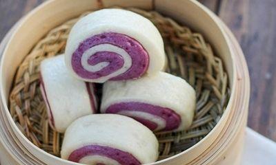 Học làm bánh bao khoai lang tím thơm bùi đẹp mắt tại nhà