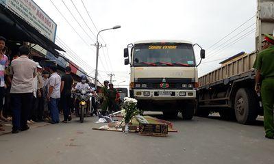 Truy tìm tài xế xe ben cán chết nữ sinh đang trên đường đi thi
