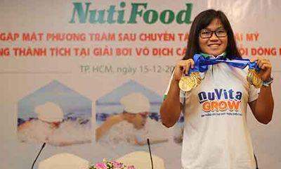 Nutifood thưởng 2000 USD cho Phương Trâm sau giải vô địch nhóm tuổi Đông Nam Á