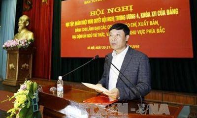 Quán triệt Nghị quyết Trung ương 4 cho lãnh đạo cơ quan báo chí khu vực phía Bắc