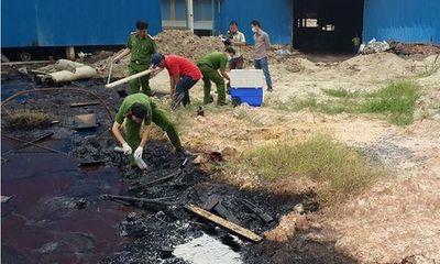 Đồng Nai: Làm rõ vụ công ty gạch men xả chất lỏng đen sệt ra môi trường