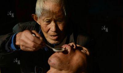 Cảm động người cha già 80 tuổi chăm sóc con trai bị bại liệt suốt 50 năm