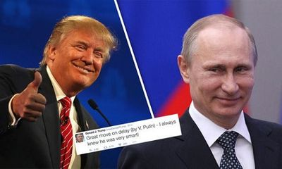 """Donald Trump ca ngợi Tổng thống Putin hành xử """"thông minh"""""""