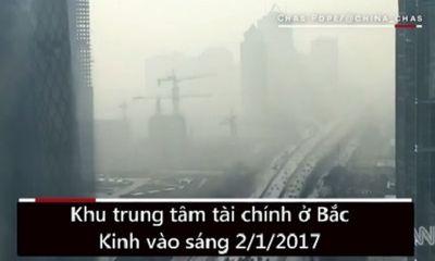 Hiện trường - Khói mù ô nhiễm bao trùm trung tâm thủ đô Bắc Kinh chỉ trong 20 phút