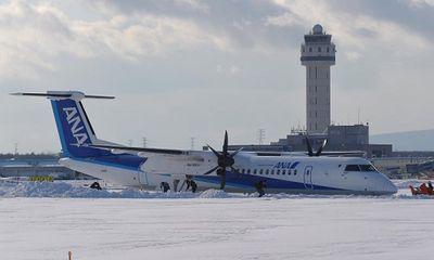Máy bay Nhật Bản đâm đầu vào tuyết