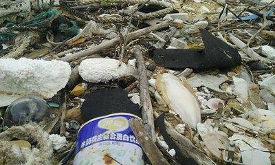 Giải mã chai lọ in chữ Trung Quốc trên vùng biển có dầu vón cục