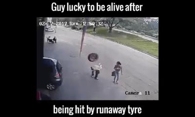 May mắn thoát chết sau khi lốp xe