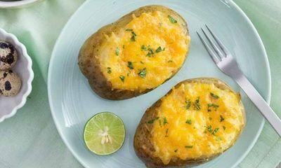 Cùng vào bếp làm khoai tây nướng phô mai trứng ngon tuyệt