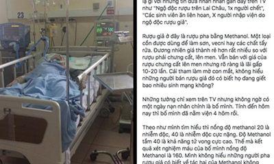 Lời chia sẻ nghẹn đắng của cô gái chứng kiến bố chết vì ngộ độc rượu methanol