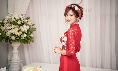 Hot girl M.U Tú Linh xinh đẹp rạng rỡ trong lễ hỏi ăn hỏi