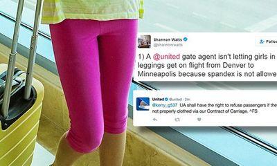 Bé gái bị cấm lên máy bay vì mặc quần legging