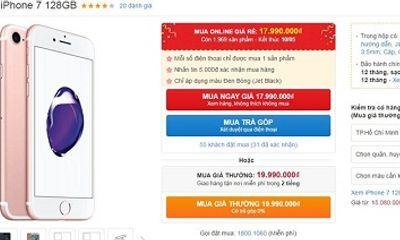 Giá iPhone 7 128GB ngang với bản 32GB