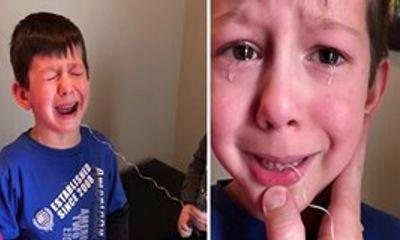 Cười chảy nước mắt xem cậu em nghịch ngợm giúp anh nhổ răng