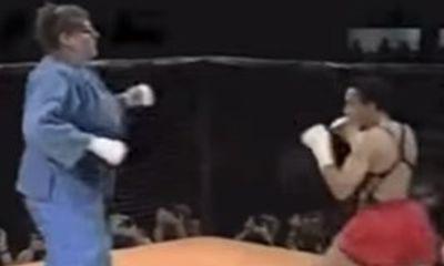 """""""Nữ võ sĩ khổng lồ"""" Judo hạ đo ván võ sĩ MMA"""