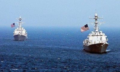 Tàu chiến Mỹ tuần tra gần đảo nhân tạo Trung Quốc trên Biển Đông