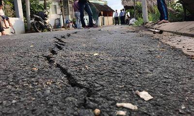 TP. HCM: Xuất hiện vết nứt dài 40 m ở Nhà Bè