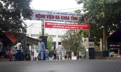 Giám đốc Bệnh viện Đa khoa tỉnh Hòa Bình từng bị kỷ luật Đảng