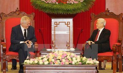 Tổng Bí thư Nguyễn Phú Trọng tiếp Tổng thống Cộng hòa Séc