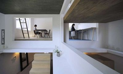 Độc đáo ngôi nhà được thiết kế kỳ lạ, không tường, không cầu thang