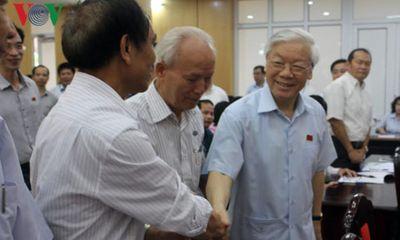 Tổng Bí thư Nguyễn Phú Trọng tiếp xúc cử tri sau kỳ họp Quốc hội