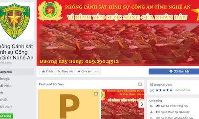 Cảnh sát hình sự Nghệ An lập Facebook tiếp nhận thông tin tố giác tội phạm
