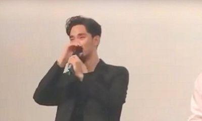 Kim Soo Hyun giải thích nguyên nhân bật khóc trong buổi ra mắt phim mới với Sulli