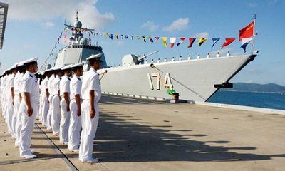 Tàu chiến Trung Quốc diễn tập bắn đạn thật trên biển Địa Trung Hải