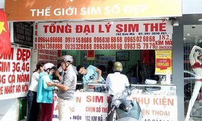 Giá SIM 11 số tăng giá vài triệu đồng, chủ tiệm SIM thẻ gom hàng chờ
