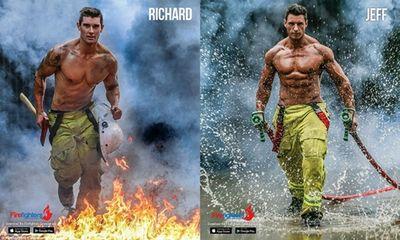 Chị em phát cuồng với bộ ảnh lịch từ thiện của lính cứu hỏa