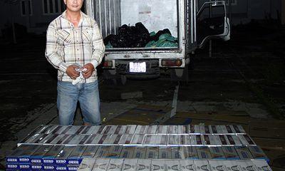 Phát hiện hơn 7000 bao thuốc lá ngoại trong xe tải chở trái cây