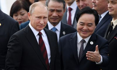 Hình ảnh đầu tiên của Tổng thống Putin tại Đà Nẵng